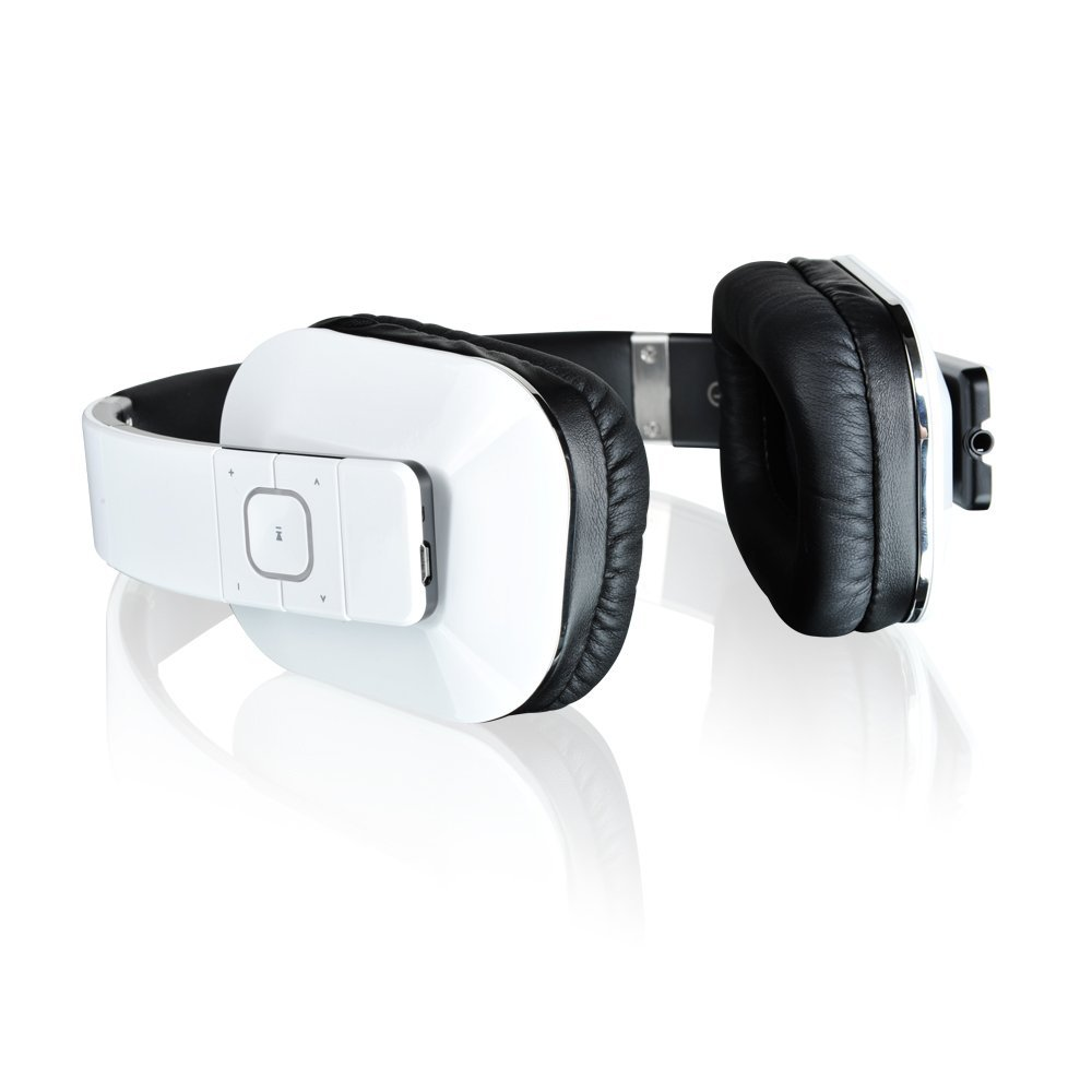 Microlab T1 Stereo Headset Bluetooth Wireless with Phone Functions (White)