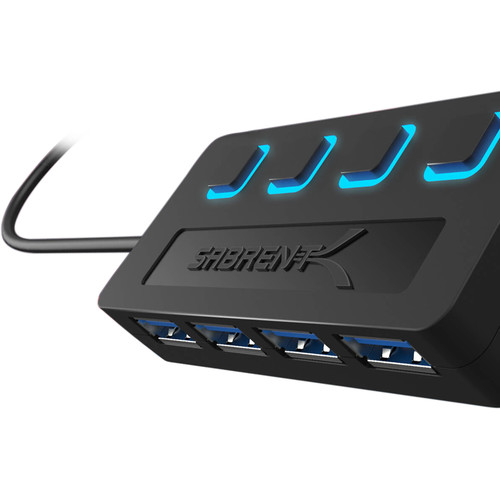 Sabrent 4-Port USB 3.0 Hub (individual Power Switches)