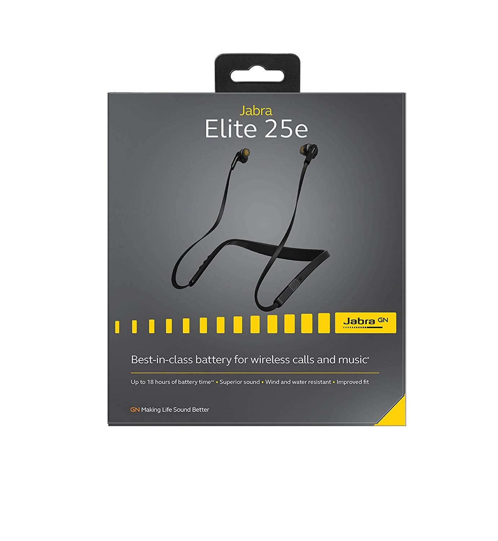 Jabra Elite 25e In-Ear Wireless Bluetooth Headphones (Black)