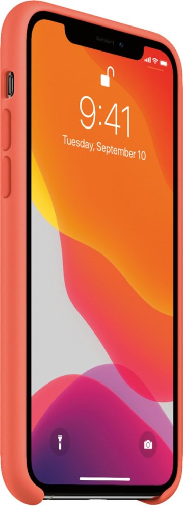 Apple iPhone 11 Pro Silicone Case Clementine Orange