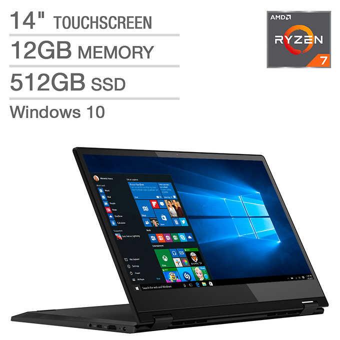 """Lenovo Flex 14 2-in-1 (Ryzen R5-3500U/8GB/256GB SSD) Windows 10, 14"""" FHD touch (Pen included)"""