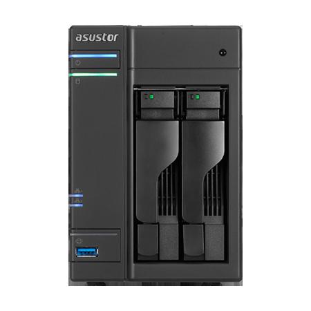 Asustor AS6302T 2 bay NAS (Intel Celeron J3355/2GB)