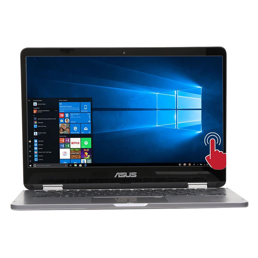 """ASUS VivoBook Flip 14 TP401MA-DH02T 2-in-1 (N4020/4GB/128GB SSD) Win 10 S, 14"""" HD Touch"""
