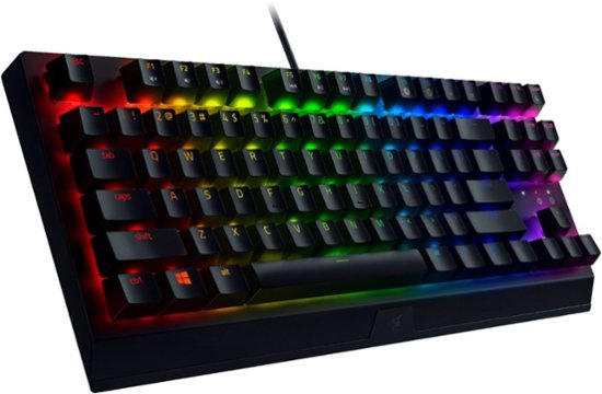 Razer BlackWidow V3 Tenkeyless Mechanical Gaming Keyboard (Razer Green/Tactile & Clicky, US QWERTY)