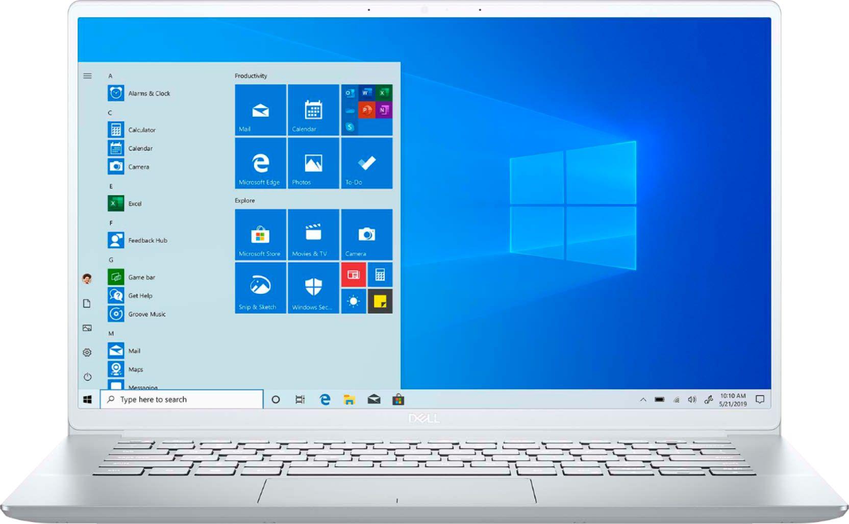 """Dell Inspiron 14 7490 (i7-10510U/8GB/512GB SSD) 14"""" FHD Laptop Silver"""