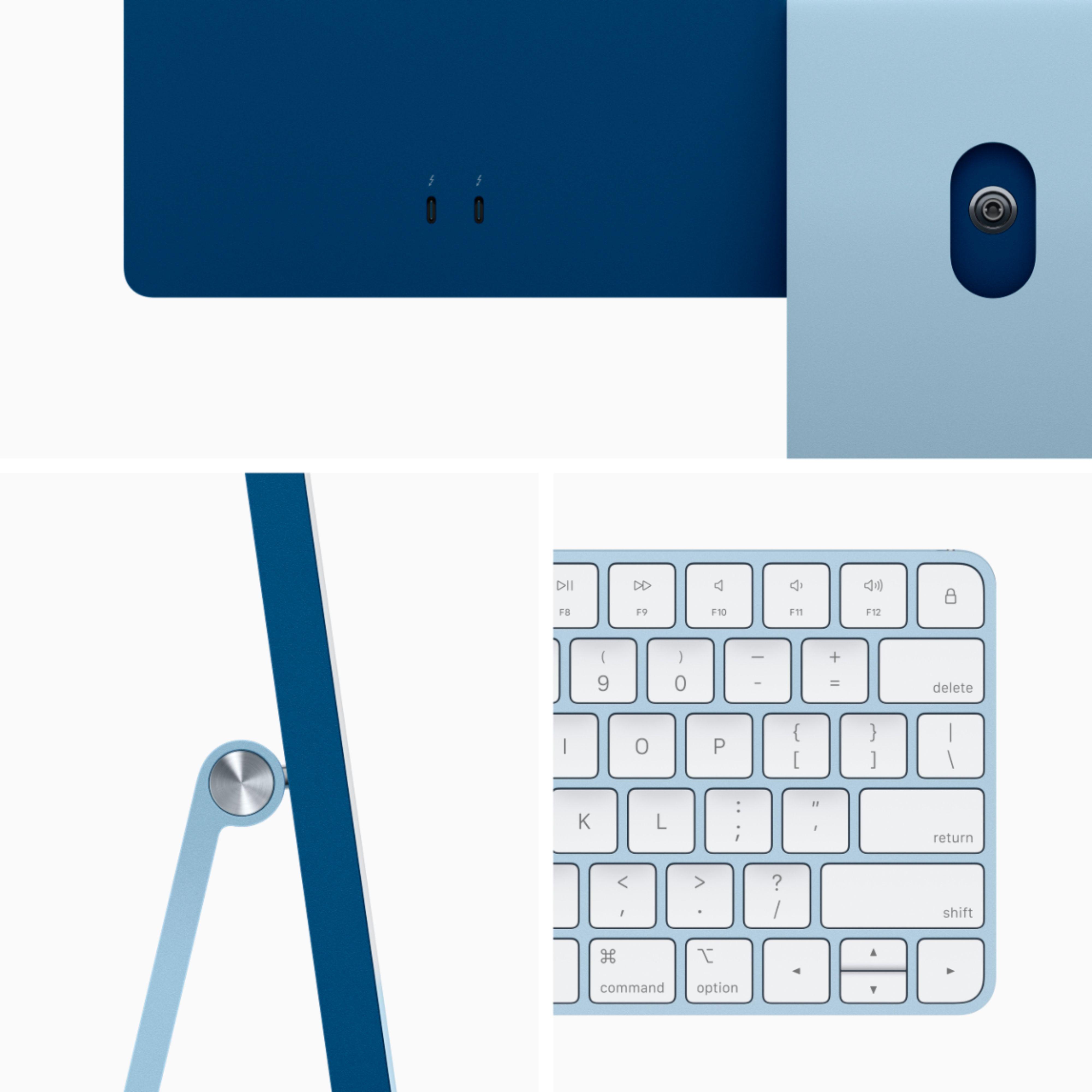 """Apple iMac 24"""" with 4.5K Display (M1 8-core CPU/7-coreGPU/8GB/256GB SSD) Mac Os Big Sur (Mid 2021, Blue)"""