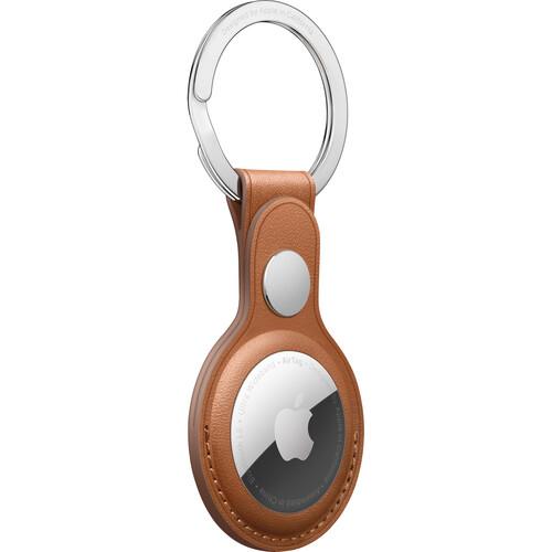 Apple AirTag key ring (Saddle Brown)