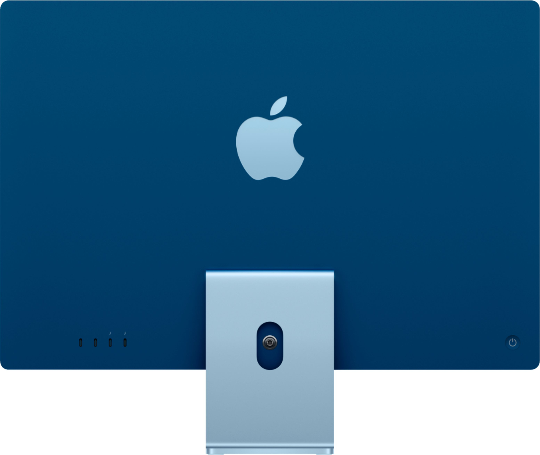 """Apple iMac 24"""" with 4.5K Display (M1 8-core CPU/8-coreGPU/8GB/256GB SSD) Mac Os Big Sur (Mid 2021, Blue)"""