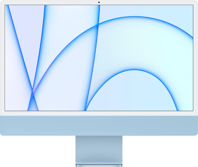 """Apple iMac 24"""" with 4.5K Display (M1 8-core CPU/8-coreGPU/8GB/512GB SSD) Mac Os Big Sur (Mid 2021, Blue)"""