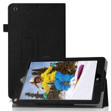 Famavala Folio Leather Case Cover For 8 NuVision Signature Edition (Black) 1