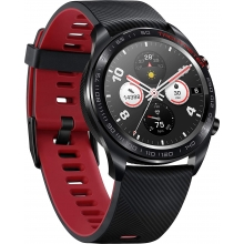 Honor Magic Smartwatch Meteorite Black with Red Silicone Strap.