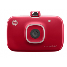 HP Sprocket 2-in-1 Photo Printer (Red)