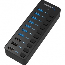 Sabrent 7-Port USB 3.0 Hub (+3 Dedicated Charging Ports)