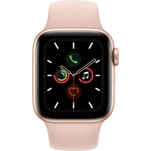 Apple Watch Series 5 (GPS + Cellular) 40mm Gold Aluminum Case with Pink Sand Sport Band