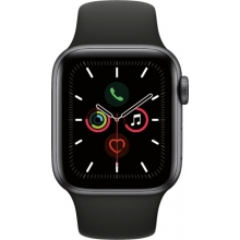 Apple Watch Series 5 (GPS) 40mm Space Gray Aluminum Case with Black Sport Band