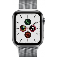 Apple Watch Series 5 (GPS + Cellular) 44mm Stainless Steel Case with Stainless Steel Milanese Loop