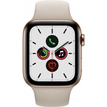 Apple Watch Series 5 (GPS + Cellular) 44mm Gold Stainless Steel Case with Stone Sport Band