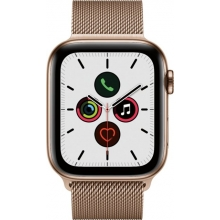 Apple Watch Series 5 (GPS + Cellular) 44mm Gold Stainless Steel Case with Stainless Steel Milanese Loop