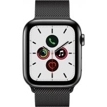 Apple Watch Series 5 (GPS + Cellular) 44mm Space Black Stainless Steel Case with Stainless Steel Milanese Loop