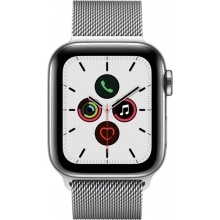 Apple Watch Series 5 (GPS + Cellular) 40mm Stainless Steel Case with Stainless Steel Milanese Loop