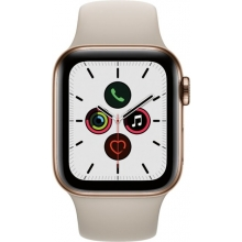Apple Watch Series 5 (GPS + Cellular) 40mm Gold Stainless Steel Case with Stone Sport Band