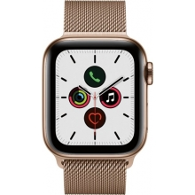Apple Watch Series 5 (GPS + Cellular) 40mm Gold Stainless Steel Case with Stainless Steel Milanese Loop