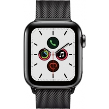 Apple Watch Series 5 (GPS + Cellular) 40mm Space Black Stainless Steel Case with Stainless Steel Milanese Loop