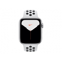 Apple Watch Nike Series 5 (GPS) 44mm Silver Aluminium with platinum/black Nike Sport Band (32GB)