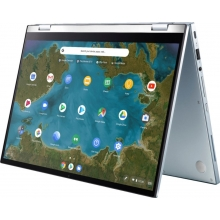 "ASUS Chromebook Flip (m3-8100Y/4GB RAM/64GB SSD) Chrome OS, 14"" FHD Touch, Blue Silver"