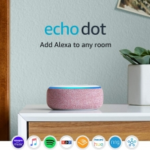 Amazon Echo Dot (3rd Gen) (Plum)