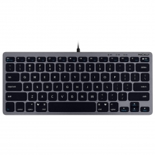 Macally Slim USB Compact Mini Keyboard for Mac, Windows (Space Gray)