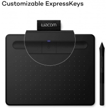 Wacom Intuos Pen Tablet (Black, Wired)