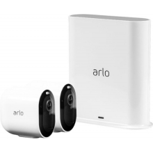 Arlo Pro 3 -2Camera Indoor/Outdoor Wireless 2K HDR Security Camera System - White