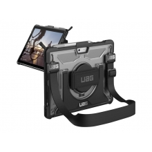 UAG Rugged Case for Surface Go/Go 2 w/ Handstrap Plasma Ice - back cover for tablet