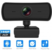 P&U 2K Webcam with Microphone, Upgrade 1080P HD Webcam with microphone USB Plug and Play