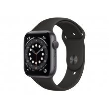 Apple Watch Series 6 (GPS) 44mm Space Grey Aluminium Case with Black Sport Band (32GB)