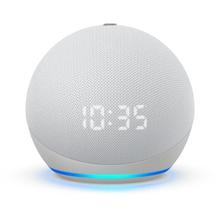 Amazon Echo dot (4th Gen) with clock έξυπνο ηχείο/ voice assistant (Glacier White)