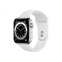 Apple Watch Series 6 (GPS + Cellular) 44mm silver stainless steel case with sport band