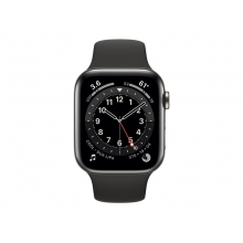 Apple Watch Series 6 (GPS + Cellular) 44mm graphite stainless steel case with sport band