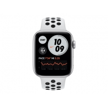 Apple Watch Nike Series 6 44mm (GPS+Cellular) silver aluminum case with pure platinum/black sport band