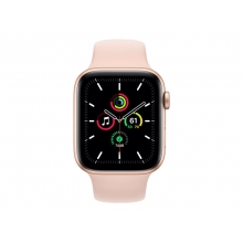 Apple Watch SE 44mm GPS+Cellular, Silver Aluminium Case with white Sport Band