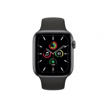 Apple Watch SE 44mm GPS+Cellular, Silver Aluminium Case with Sport Band
