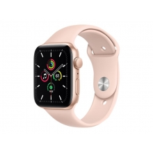 Apple Watch SE 44mm GPS, gold aluminium case with pink sand sport band