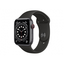 Apple Watch Series 6 (GPS+Cellular) 44mm Space Grey Aluminium Case with Black Sport Band
