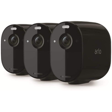 Arlo Essential Ασύρματο Σύστημα Παρακολούθησης Εσωτερικού/ Εξωτερικού χώρου 1080p HD Color Night Vision (3-pack, Black)