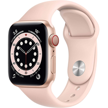 Apple Watch Series 6 (GPS + Cellular) 40mm Gold Aluminium Case with Pink Sand Sport Band